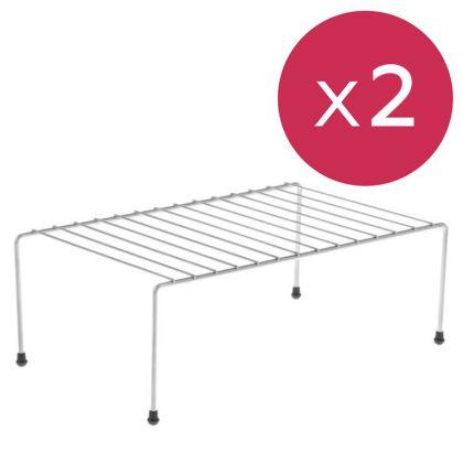 Полка для шкафа, противоскользящие наконечники, 2 шт, 36 x 22 x 12,5 см
