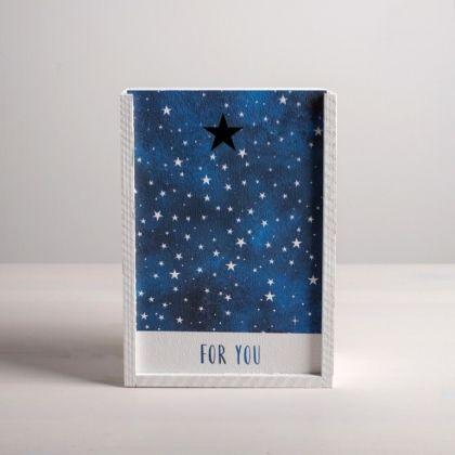 Ящик подарочный деревянный «Звезды», 20 x 14 x 8 см