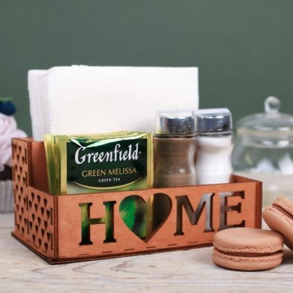 Органайзер для кухонных мелочей «Любимый дом», коричневый, 16 х 9 х 2 см