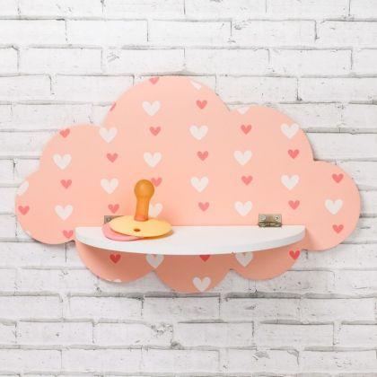 Полка детская «Lovely Cloud», розовый, 27 х 2 х 17 см