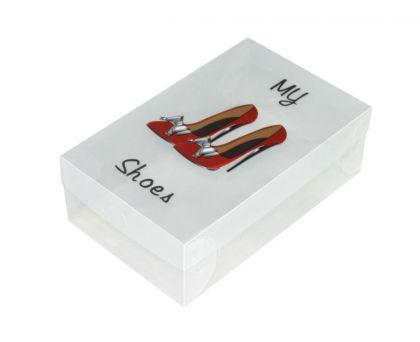 Коробка для женской обуви с принтом «Red Shoes», 30 x 18 x 10 см