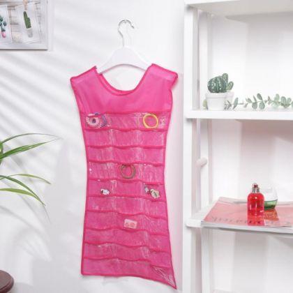 Органайзер в форме платья для мелочей, красный, 74 x 41 см