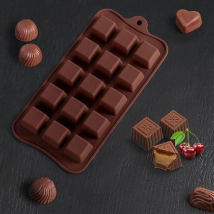 Форма для льда и шоколада «Classic», 15 ячеек, 21,5 x 10 x 1,5 см