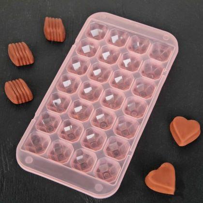 Форма для льда и шоколада «Saphire», 28 ячеек, 24 x 12,7 x 2 см