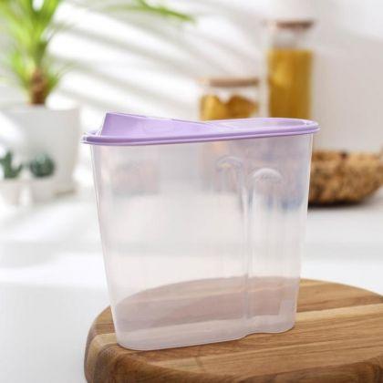 Емкость для сыпучих продуктов, 1,5 л, 17 х 9 х 19 см