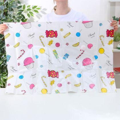 """Вакуумный пакет для хранения одежды """"Сладости"""", белый, 70 х 100 см"""