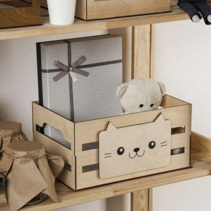 Ящик для хранения «Cat», бежевый, 30 x 15 x 20 cм
