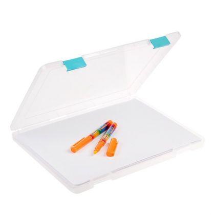 Папка для документов А4, с цветными защелками, 23 х 30,5 х 2,3 см
