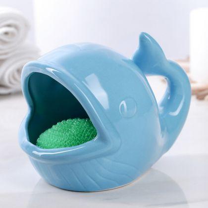 Подставка для губки «Whale», голубой, 14 х 11 х 11 см