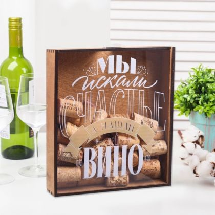 Копилка для пробок «Вино», коричневый, 20 х 4,8 х 21 см