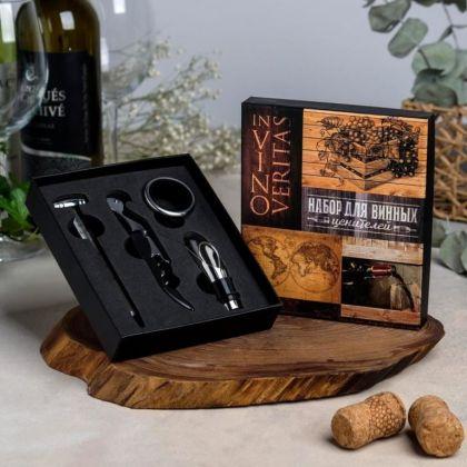 Набор для вина «Эстет», 4 предмета, 14 х 2,8 x 16 см