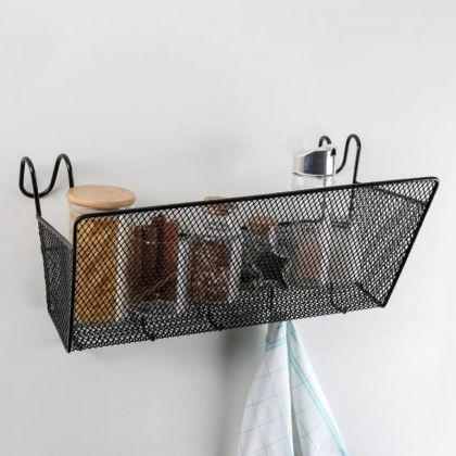 Полка подвесная «Loft», черный, 37 x 17 x 22 см