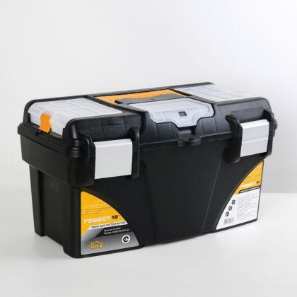 Ящик для инструментов с коробками, «Gefest», черный, 25 х 42 х 24 см