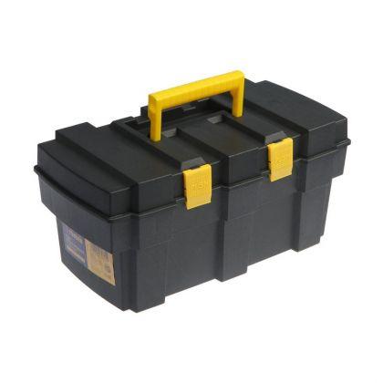 Ящик для инструмента, подвижный лоток, черный, 33,3 х 17,7 х 15,5 см