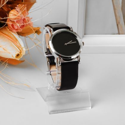 Подставка под часы, ребристая поверхность, прозрачный, 4,5 x 6 x 9 см
