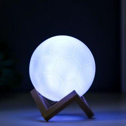Ночник «Football», LED от батареек, белый, 10 х 10 х 10 см