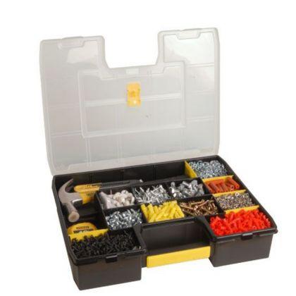 Органайзер с переставными перегородками, черный, 44,4 х 33,2 х 9 см