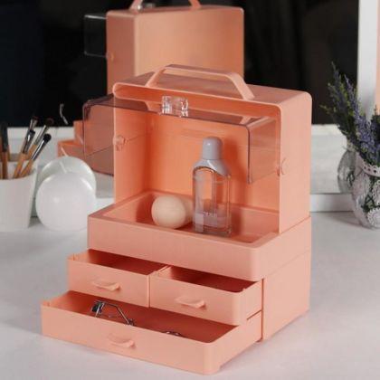 Органайзер для хранения косметических принадлежностей, 4 ячейки, 25 x 21 x 15 см