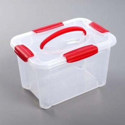 Ящик для хранения с крышкой «Crystall», 5,5 л, 28 x 19 x 17 см