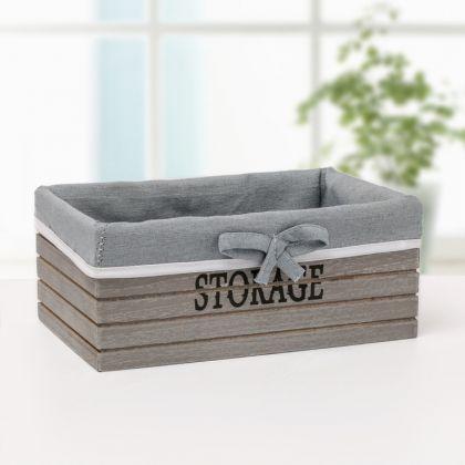 Короб для хранения «Scandic», серый, 20 x 11 x 9 см