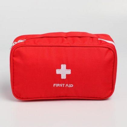Косметичка дорожная «Первая помощь», красный, 24 х 12 х 6 см