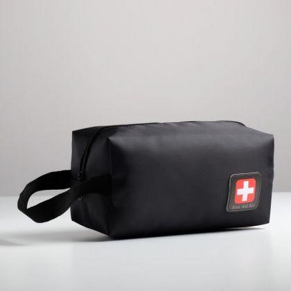 Косметичка дорожная «Первая помощь», черный, 23,5 х 10 х 11,5 см