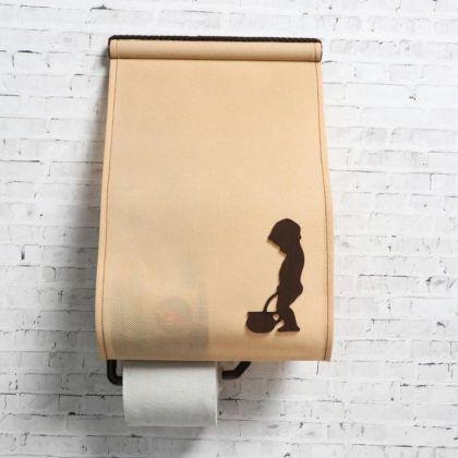 Панно-органайзер для туалета «Мальчик», бежевый, 21 х 2 x 34,5 см