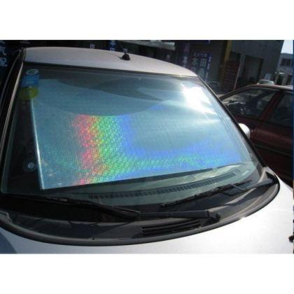 Автомобильная шторка на стекло, раздвижная, хром, 50 x 125 см