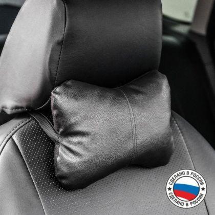 Подушка автомобильная, на подголовник, черный, 23 х 16 х 6 см