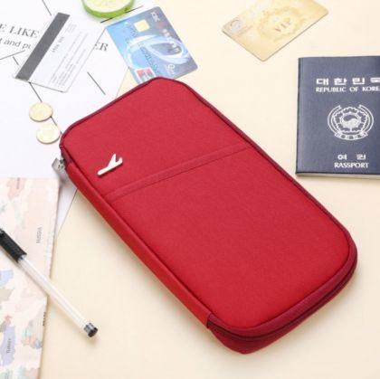 Многофункциональный холдер для путешествий, бордовый, 24 x 13 x 2 см