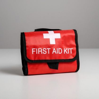 Косметичка дорожная «Первая помощь», красный, 25 x 20,5 x 5 см