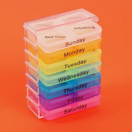 """Таблетница на 7 контейнеров по 4 секции """"Week"""", 8 х 10,5 х 5 см"""
