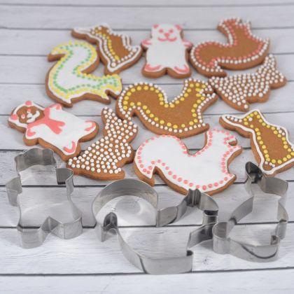 Набор формочек для печенья «Лесные жители», 3 шт