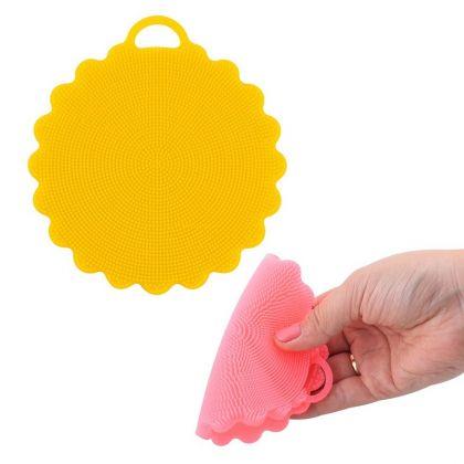 Щетка силиконовая для мытья посуды, овощей и фруктов «Wave», 12,5 x 12,5 x 0,7 см