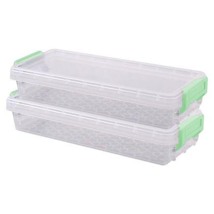 Набор контейнеров с крышкой для хранения, 2 шт, 0,33 л, 20 х 8 х 3,5 см