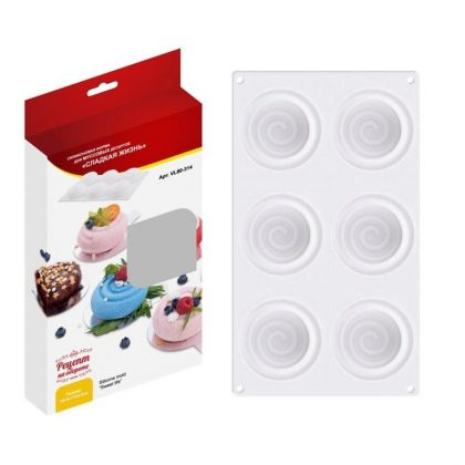 Силиконовая форма «Sweet», для муссовых десертов, 29,5 x 17 x 3 см