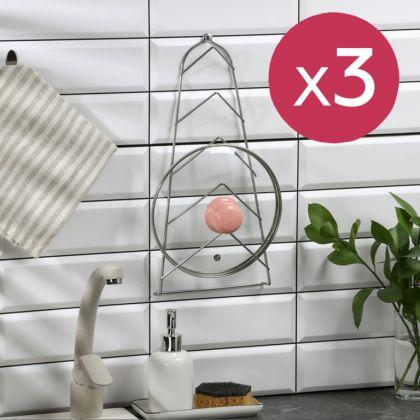 Набор подвесных держателей для крышек, 3 шт, 39 x 18 x 4 см