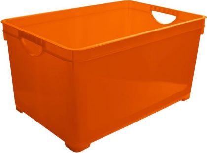 Ящик для хранения универсальный, 19 л, оранжевый, 38,6 x 26,3 x 24,1 см