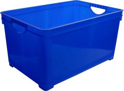 Ящик для хранения универсальный, 19 л, синий, 38,6 x 26,3 x 24,1 см