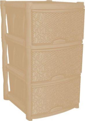 Комод универсальный «Fiori», 3 секции, слоновая кость, 48 x 41 x 72,3 см