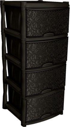 Комод универсальный «Fiori», 4 секции, венге, 48 x 41 x 72,3 см