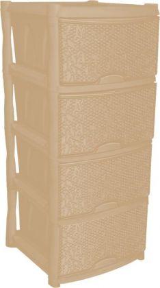 Комод универсальный «Fiori», 4 секции, слоновая кость, 48 x 41 x 94,5 см