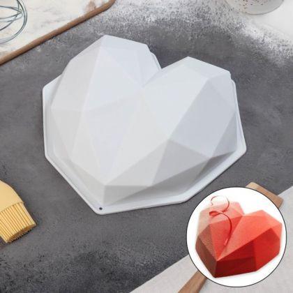 Силиконовая форма для муссовых тортов «Jewel Heart», 20 x 22 x 5,5 см