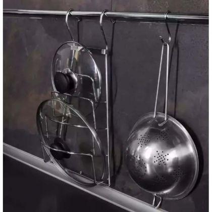 Подставка для крышек навесная на рейлинг, 20 x 37 см