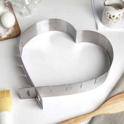 Кулинарная форма «Love» регулируемая, 15-27 х 11-20 x 6 см