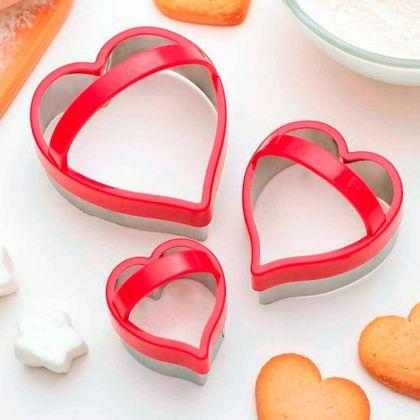 Набор кулинарных форм «Love», 3 шт