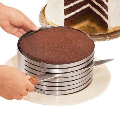 Кулинарная форма для слоеных блюд, круглая регулируемая, 16-20 x 8,5 см