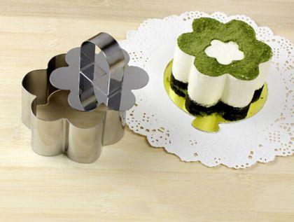 Кулинарная форма «Flower» с крышкой-прессом, 8 х 8 х 4 см
