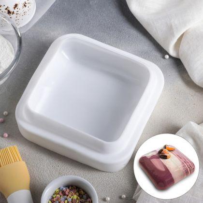 Силиконовая форма для муссовых тортов «Style», 18,5 x 18,5 x 5 см