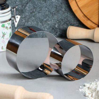 Набор кулинарных форм «Round», 2 шт, 10 х 4,5 и 7 x 4,5 см